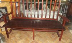 Solid Rhodesian Teak Bench (Sleeper wood). Stunning for