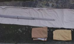 RALLY AWNING + sides IN VERY GOOD CONDITION WITH POLES