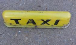 Very scarce Yellow taxi sign, ideal for an ornament in