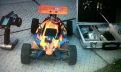 Beskrywing Hi. Selling my EB4 Thunder Tiger Buggy still