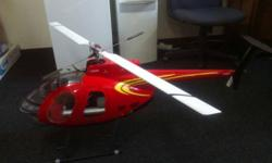 RC helicopter: Align Trex600 with O.S., 50 nitro engin.