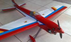 3D aerobatic radio control plane with 1400mm wingspan.