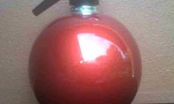Red ball soda maker. In good working condition.