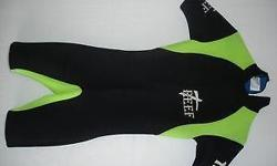 This is a REEF short wetsuit. Size: Small. 58cm from