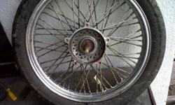 Refurbishing and polishing of motorcycle rims and