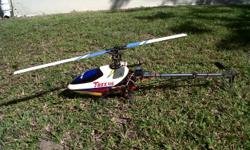 Beskrywing Hobby King 450 electric helicopter. Almost
