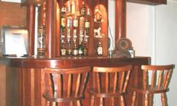 Beskrywing Soort: Bar Rhodesian Teak bar with build-in
