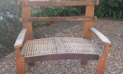 Riempies couch, barrel oak, two seater R150.00 Contact