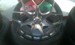 Set of 17 see pic with tyres R4000 set of 225 40 18