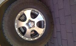 Beskrywing Four tyres with rims.Yokahama Geolander A/T