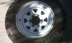 Isuzu rims and tyres with 30percent thread