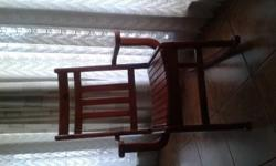 OREGON STAINED ROCKING CHAIR IN VERY GOOD CONDITION