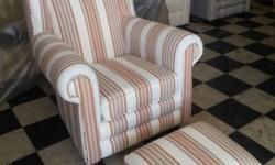 1 x Brand New Classic Chair + Ottoman available