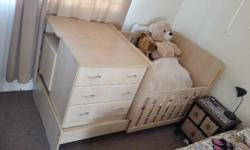 Canadian Maple. In Good condition with cot mattress. It