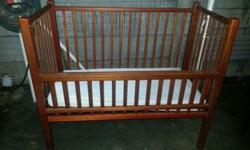 Rosewood baby bed (Kot) Ventilated Mattress Near
