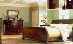 Gorgeous bedroom suite solid rosewood inlayed.Curved