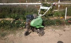 This type of rotavator is ideal for veggie gardens or