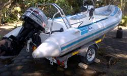 Beskrywing 4.7m Rubber duck for sale, 60hp Marina