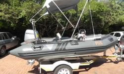 Feral Inflatable, 4.2 meter. Hand Laminated Hull with