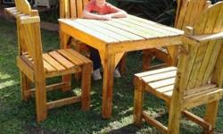 Table & Chairs sold as set or seperate Table : R1000