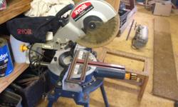 Ryobi Mitre Saw on stand. Great condition. No longer