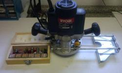 Ryobi 1100 watt Electric Router plus Accessories and