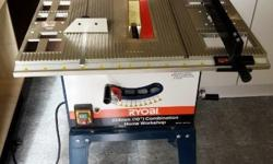 Ryobi Table Saw excellent condition hardly been used