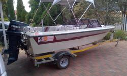 15ft , 8 seater bow rider on registered galvanized