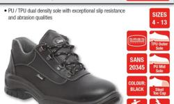 safety shoes Leather  Steel Toe Cap Oil and Acid