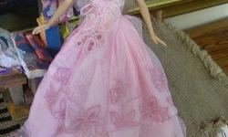 Photo 1: Ball gown 1: Pretty pastel pink double lace