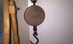 Old Salters scale with brass face.