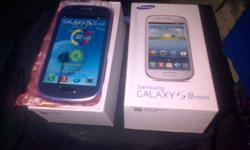 Selling my Samsung galaxy S3 Mini, Pebble Blue color,