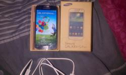new samsung s4 mini with the box and all the