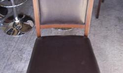 Beskrywing Santos Leather dining chairs, 8 available.
