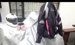 Medium size jacket pink and black with fluorescent