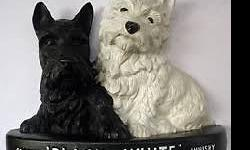 Black & White Whisky Scottie Dog bar display - great