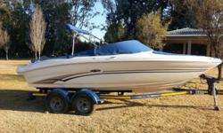 Boat is as new with 220 hrs on Mercruiser. Just