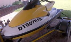 Beskrywing Seadoo HX 750 Racing Jetski one seater for