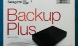 Brand new (Literally used once) Seagate 2TB Backup plus