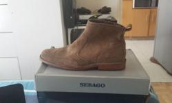 Size 8 , 42 , brown suede Sebago half boot , original ,
