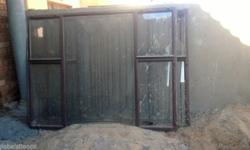 Am selling two, 2m by 1.5m window frames with burglar