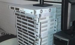 29 x 48 port and 2 x  24 port switches and servers and