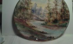 Sesto Flamme hand painted Italy wall plate Number 105