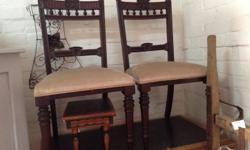 SET 6 EDWARDIAN MANOGANY CHAIRS. IN GREAT CONDITION .