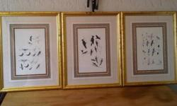 Set of 6 original water colour paintings by British
