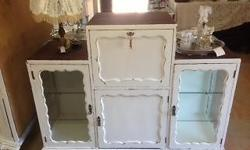 An original Imbuia Cocktail cabinet shabby chic'd Has