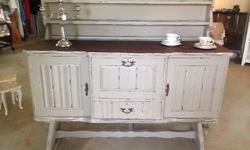 An original Imbuia Dresser.  Has 2 cupboards on either
