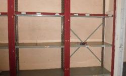 Steel shelving still in Immaculate condition , R350 per