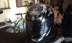 Shoei medium size helmet in excellent condition like