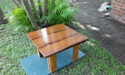 Coffee side table 670mm X 670mm X420mmh Rhodesian Teak.